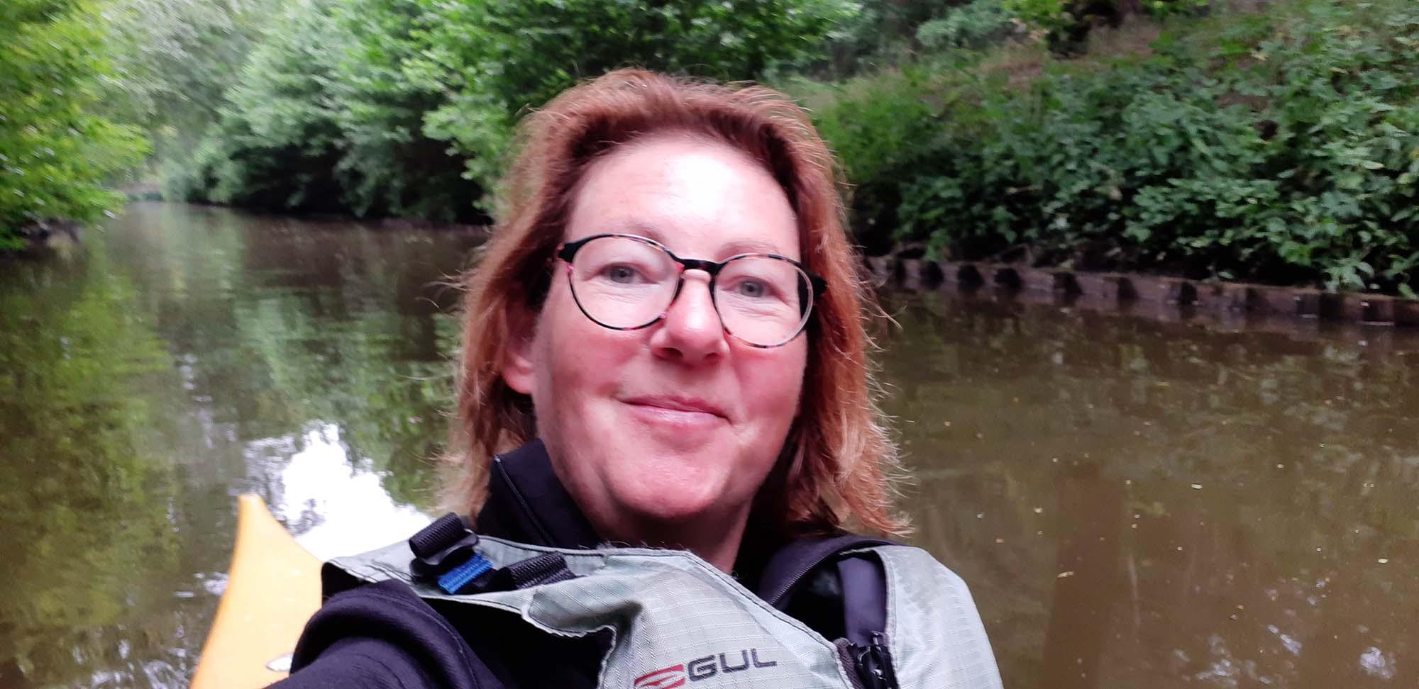 Kanoën rivier de Luts in Friesland