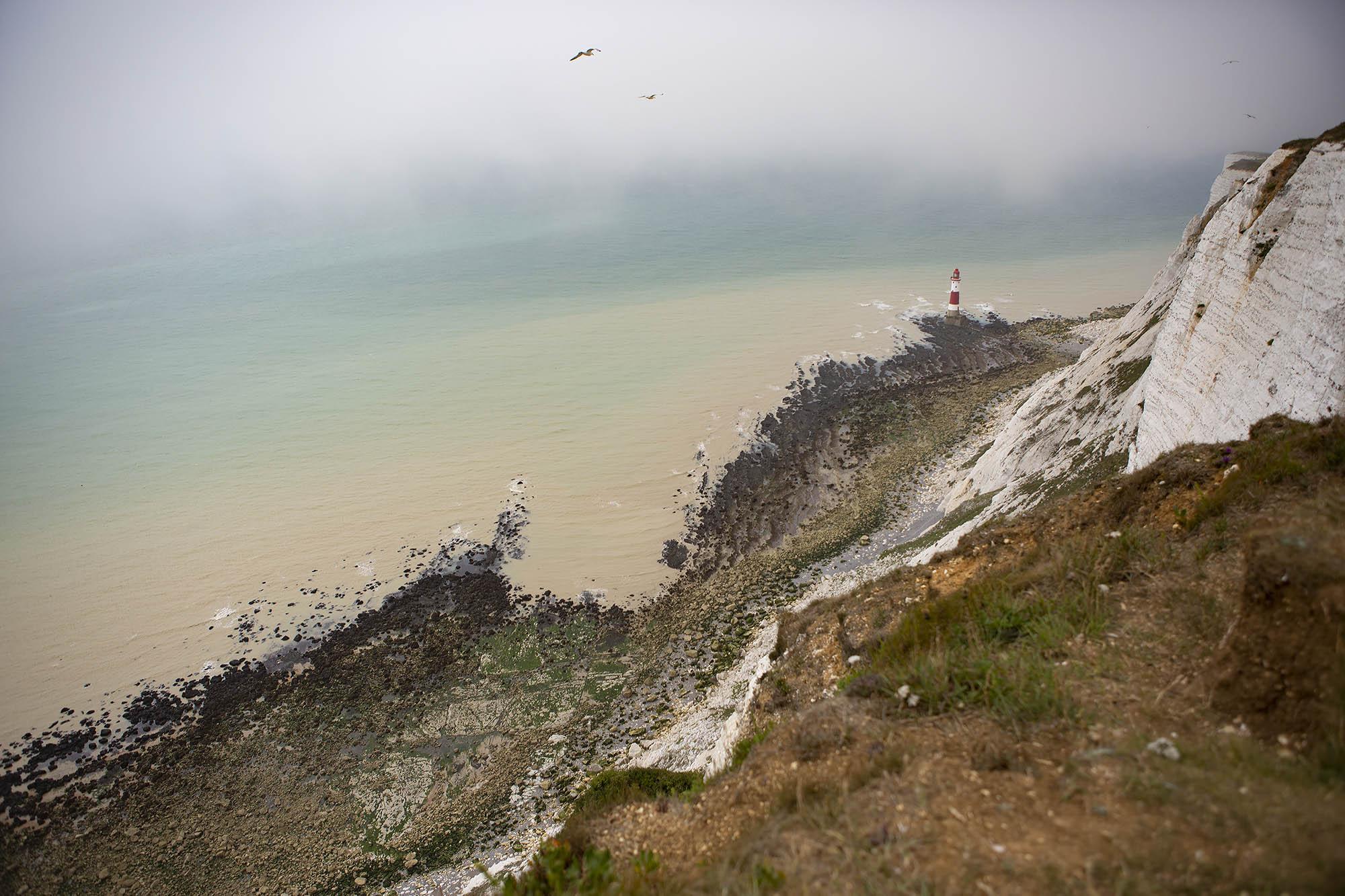 Uitzichten Zuidwest Engeland Beachy Head