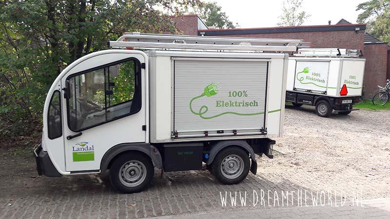 Duurzame elektrische serviceauto Landal