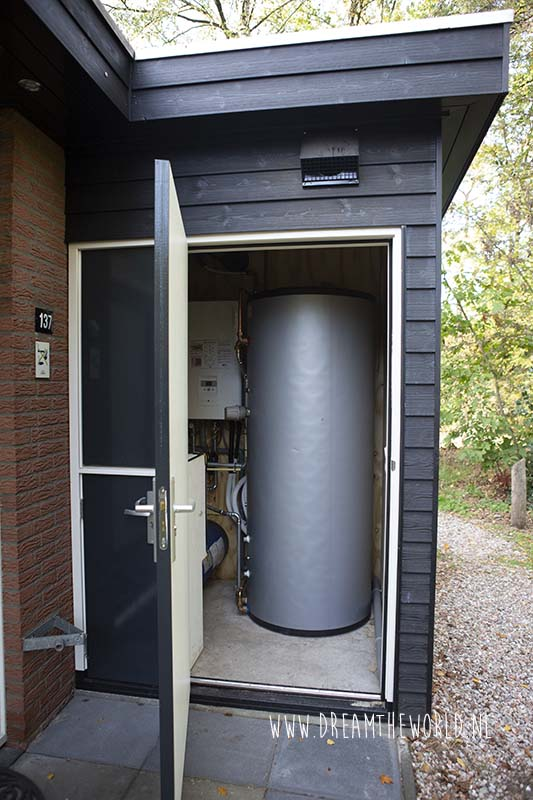 Duurzaam huisje Landal warmwaterpomp