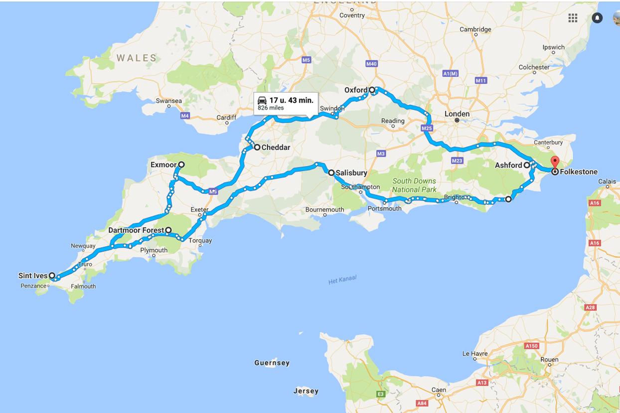 Roadtrip Route Zuid Engeland De Mooiste Plekken