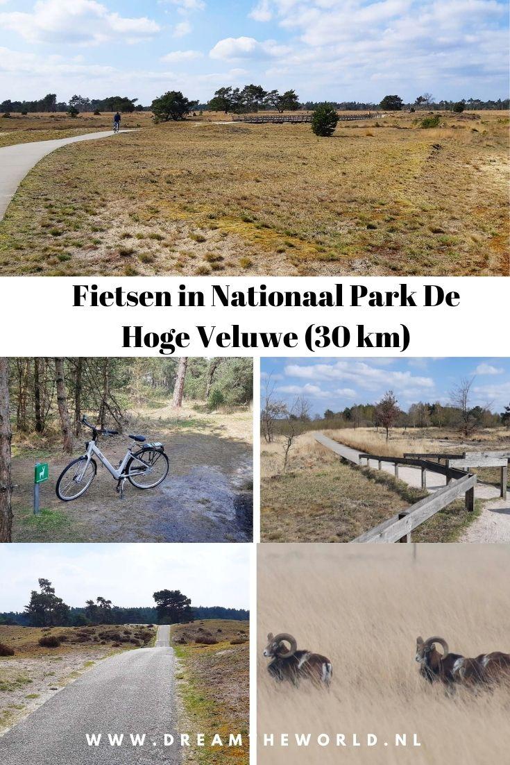 Fietsroute in Nationaal Park De Hoge Veluwe (30 km), inclusief wildspot plekken