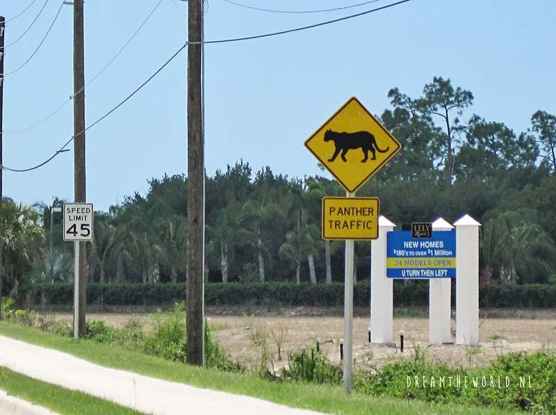 Florida panter roadsign