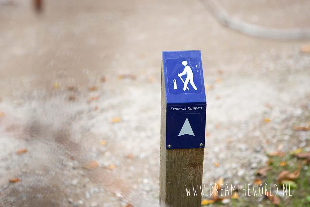 Het Kromme Rijnpad 29 kilometer van Utrecht naar Wijk bij Duurstede