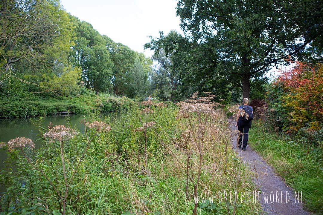 Wandelen langs de Kromme Rijn over het Kromme Rijnpad