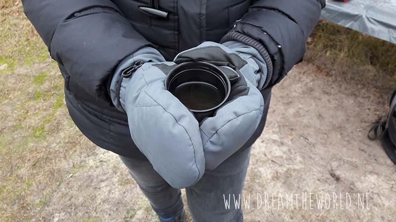 warme thee tijdens wandelen in de winter