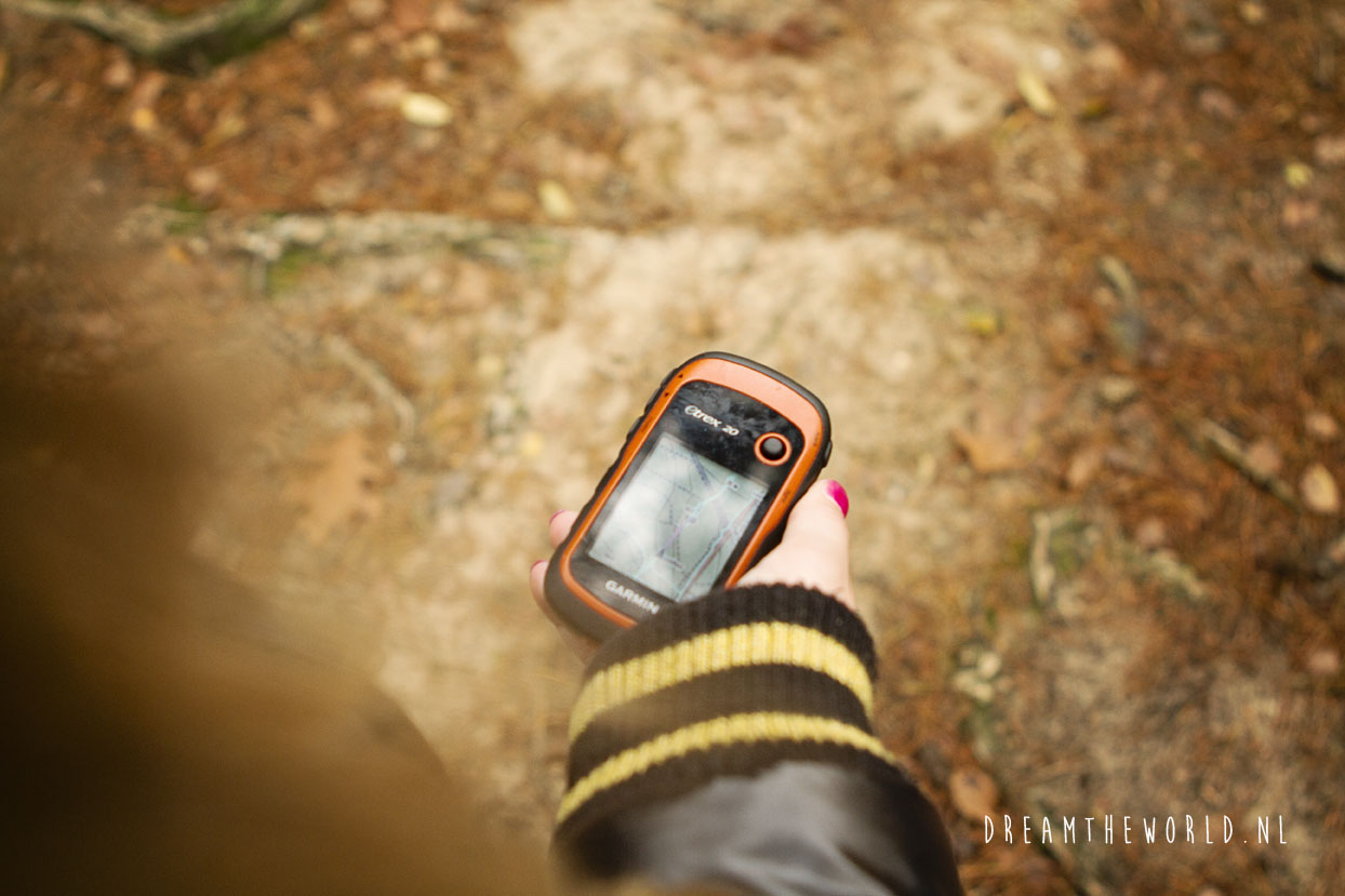 GPS tocht geocaching Veluwe outdooractiviteit Nederland