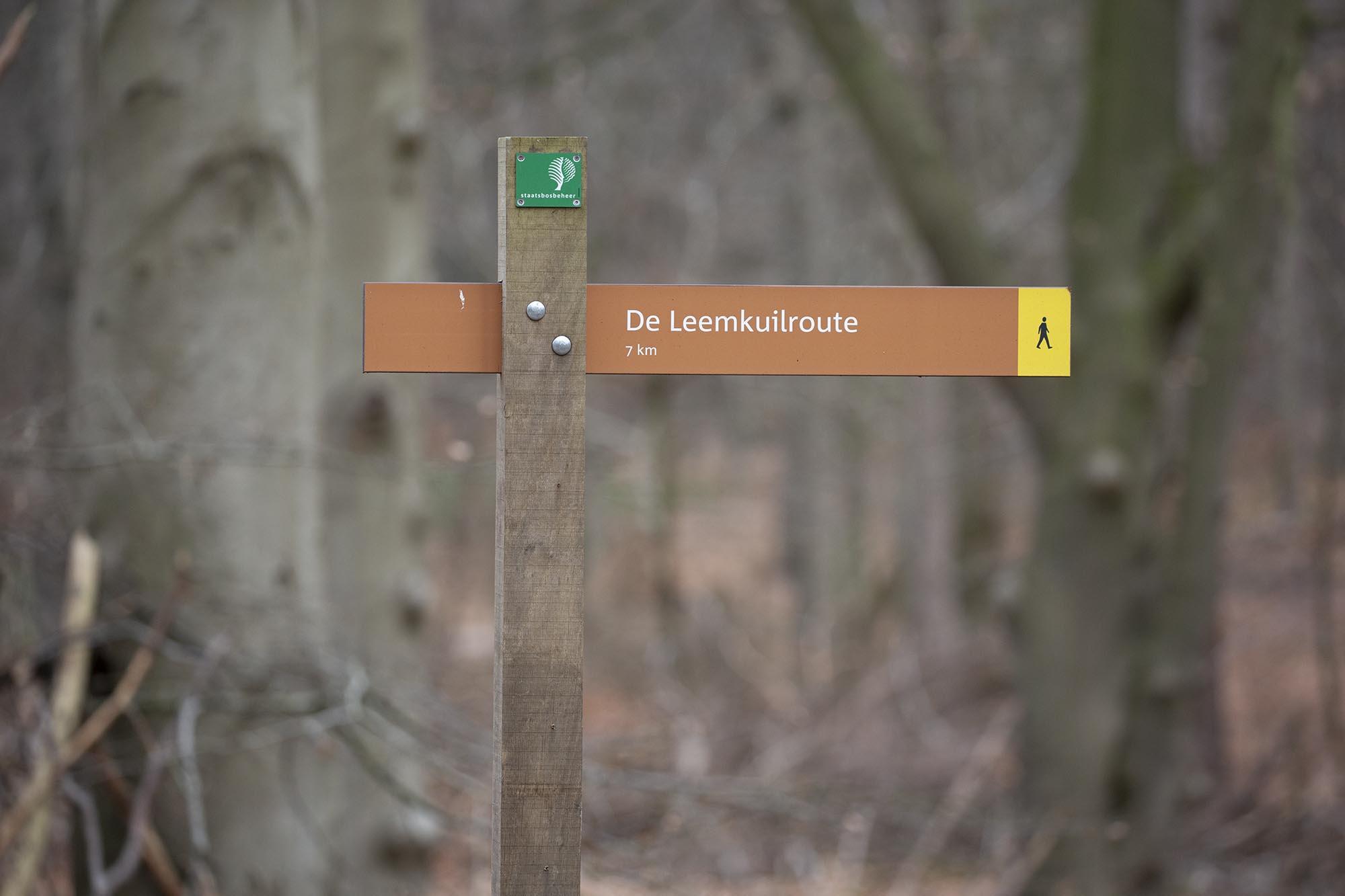 Wandelroute Leemkuil Utrechtse Heuvelrug