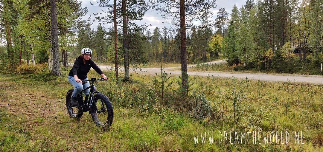Fatbiken bij Salla in Fins Lapland