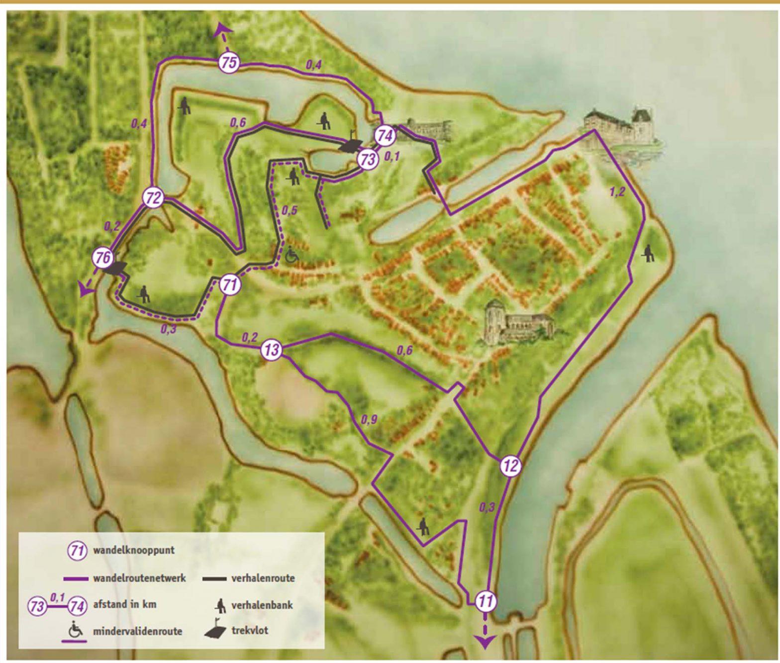 Wandelen over de stadswallen van Veere: wandelroute langs knooppunten