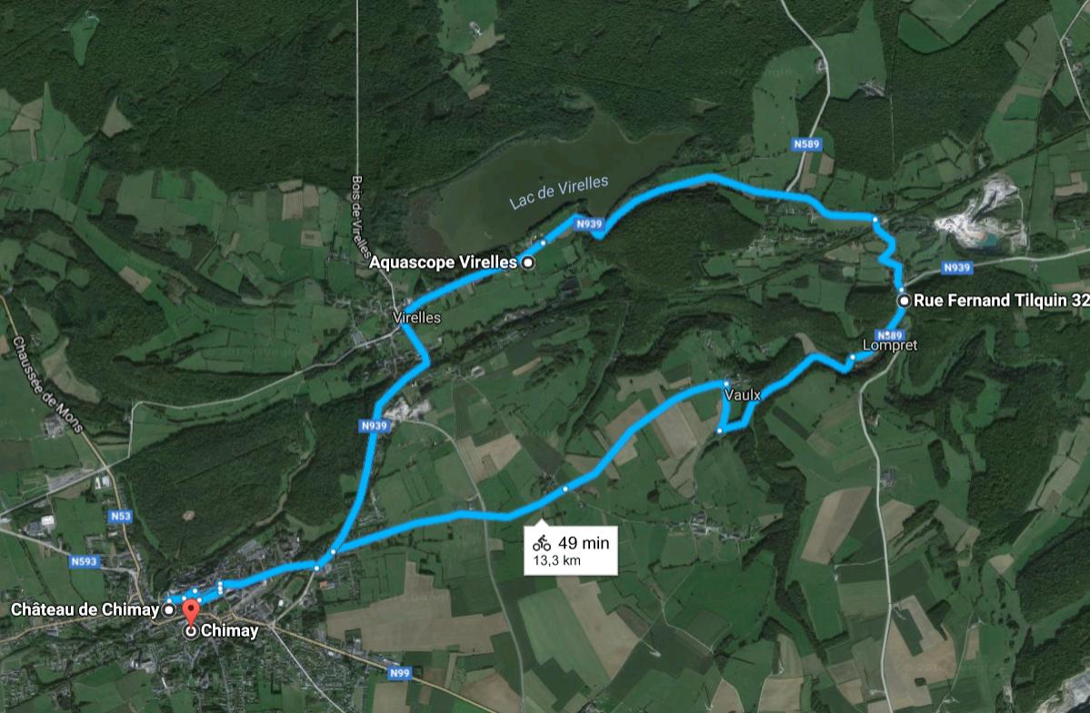 Fietsen in Wallonië: rondje Chimay en Lompret