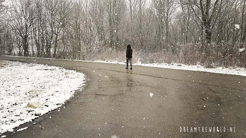wandelen in sneeuw Zeeland